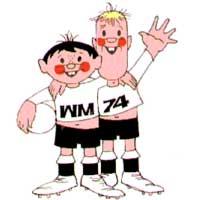 Mascotes da Copa de 1974 na Alemanha Ocidental - Tip e Tap