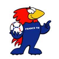 Mascote da Copa de 1998 na França - Footix