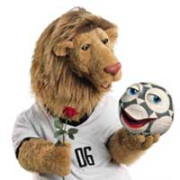 Goleo VI e Pille, mascotes da Copa do Mundo de 2006 na Alemanha