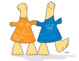 Mascote dos Jogos Olímpicos de Verão - - Atenas 2004 -  Athena e Pevos