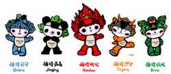 The Fuwa - Mascots of the 2008 Summer Olympics in Beijing - China