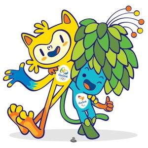 6067970b6a Vinícius e Tom - Mascotes dos Jogos Olímpicos de 2016 - Rio de Janeiro