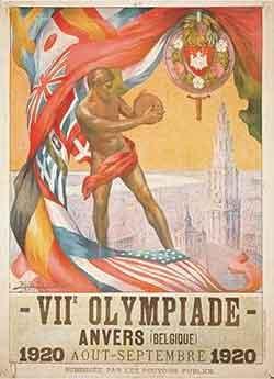 Pôster dos Jogos Olímpicos de Verão - Antuérpia 1920