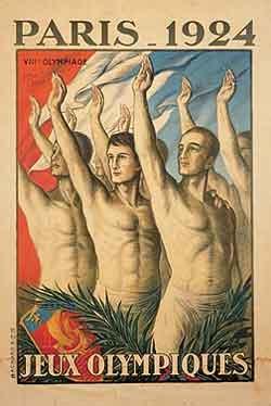 Pôster dos Jogos Olímpicos de Verão - Paris 1924
