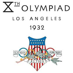 Emblem - Los Angeles 1932 - Games of the X Olympiad - Summer Olympic Games