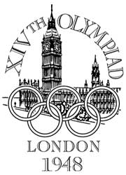 Emblem - London 1948 - Games of the XIV Olympiad - Summer Olympic Games