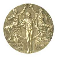 Medal obverse - London 1908 - Games of the IV Olympiad - Summer Olympic Games