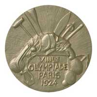 Medal reverse - Paris 1924 - Games of the VIII Olympiad - Summer Olympic Games