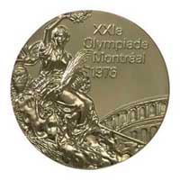 Medal obverse - Montreal 1976 - Games of the XXI Olympiad - Summer Olympic Games