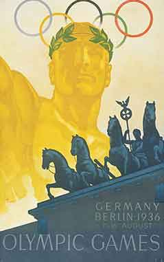 Poster - Berlin 1936 - Games of the XI Olympiad - Summer Olympic Games