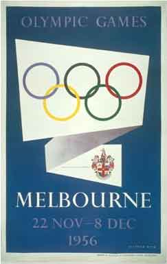Poster - Melbourne 1956 - Games of the XVI Olympiad - Summer Olympic Games