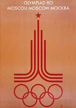 Poster - Moscow 1980 - Games of the XXII Olympiad - Summer Olympic Games