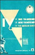 Pôster dos Jogos Pan-Americanos de São Paulo - 1963