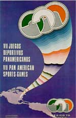 Pôster dos Jogos Pan-Americanos da Cidade do México - 1975