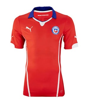 Uniforme 1 da Sele��o do Chile para a Copa do Mundo de 2014
