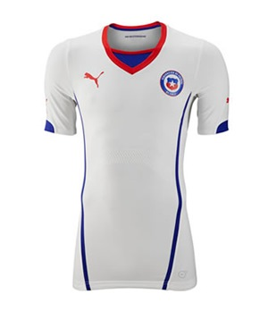 Uniforme 2 da Sele��o do Chile para a Copa do Mundo de 2014