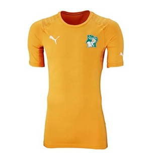 Uniforme 1 da Sele��o da Costa do Marfim para a Copa do Mundo de 2014