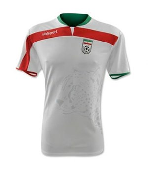 Uniforme 1 da Sele��o do Ir� para a Copa do Mundo de 2014