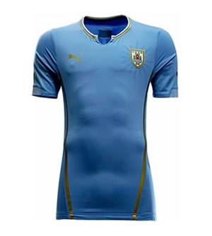 Uniforme 1 da Sele��o do Uruguai para a Copa do Mundo de 2014